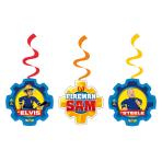 6 Swirl Decorations Fireman Sam 2017 Foil / Paper 61 cm