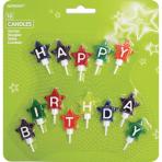 13 Mini Character Candles Happy Birthday Stars Height 4.1 cm