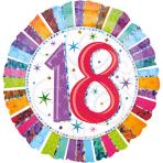 Standard Radiant Birthday 18 Foil Balloon S55 Packaged