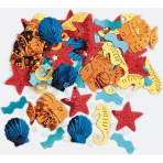 Confetti Luau Sea Life Metallic Embossed 14 g