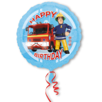 Standard Fireman Sam Happy Birthday Foil Balloon S60 Packaged 43 cm