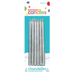 12 Candles Birthday Silver Height 12.7 cm