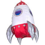 Ultrashape Rocket Ship Foil Balloon P45 packaged