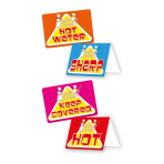 20 Warning Signs & Stickers Little Cooks 10 x 7 cm