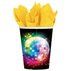 8 Cups Disco Fever 70's Paper 266 ml