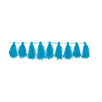 Tassel Garland Carribean Blue 3 m
