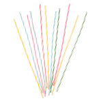 24 Spiral Candles Jackstraws Height 18 cm