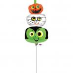 "Mini Shape ""Halloween Heads"" Foil Balloon, A30, airfilled"