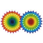 Fan Decoration Multicolour Paper 100 cm