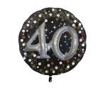 Multi Balloon Sparkling Birthday 40 Foil Balloon P75 Packaged 81 x 81 cm