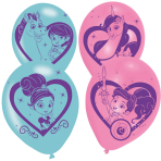 6 Latex Balloons Nella The Princess Knight All Round Printed 27.5 cm / 11""
