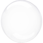 Clearz Crystal Clear Foil Balloon S40 packaged