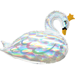 Supershape Iridescent Swan Foil Balloon P40 packaged