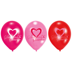 6 Latex Balloons Lovely Moments 22.8 cm/9''