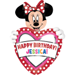 SuperShape personalisiert Minnie Mouse Birthday Foil BalloonP40 Packaged 60 x 83 cm