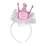 Head Band Crown Princess Birthday Paper / Plastic / Fabric 21.5 x 11.4 cm