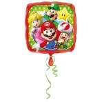 Standard Mario Bros Foil Balloon Square S60 Bulk 43 cm