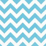 20 Napkins Carribean Blue Chevron 33 x 33 cm
