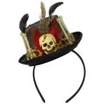 Headband Top Hat Witch Doctor One Size