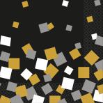 16 Beverage Napkins Sparkling Confetti 25cm