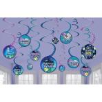 12 Swirl Decorations Battle Royal Paper 13 cm