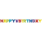 Letter Banner Bright Birthday Foil 213 cm