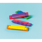 12 Harmonicas Plastic 8.4 x 2.1 cm