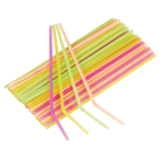 40 Drinking Straws Neon Plastic 24 cm