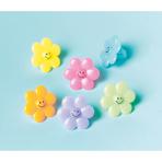 24 Flower Rings Plastic 1.7 x 4.1 cm