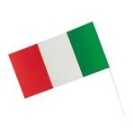 Flag Italy With Rod Paper /   Plastic 12 x 23 cm