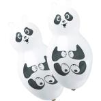 "4 Latex Balloons Shapes Panda 66 cm / 26"""
