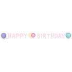 Letter Banner Happy Birthday Pastel Paper 150 x 13.8 cm