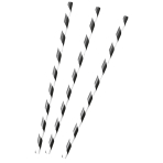 12 Drinking Straws Kicker Party Paper 19.7 cm