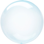 Clearz Petite Crystal Blue Foil Balloon S15 Packaged