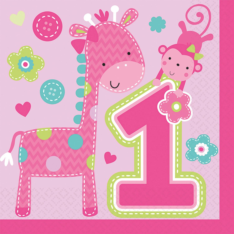 Картинка с 1 днем рождения девочке