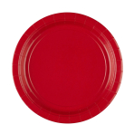 8 Plates Apple Red Round Paper 23 cm