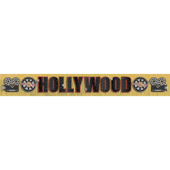 Glitter Fringe Banner Hollywood 300 cm