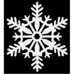 4 Cutouts Snowflake Glitter White Plastic 10.1 cm