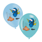 6 Latexballoons Finding Dory 4 Colour Print 27,5 cm/11""