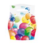 8 Party Bags Balloons Plastic 23.4 x 16.2 cm