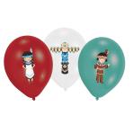 "6 Balloons Tepee & Tomahawk 28cm/11"" 4C Print"
