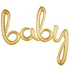 Script Phrase `Baby` Gold