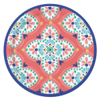 8 Plates Boho Vibes Paper 17.7 cm