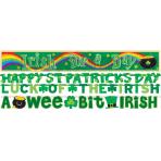 4 Letter Banners St. Patrick's Day Paper / Foil 234.6 cm / 164.5 cm / 152.4 cm / 76.2 cm