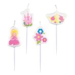 4 Mini Figurine Candles My Princess