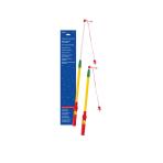 Lantern Stick Telescopical Electrical Plastic 38 - 58 cm