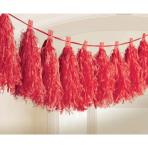 Tassel Garland Red 3 m