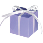 100 Treat Boxes Colourful Wedding  Lilac 5.7 x 5.7 x 5.7 cm