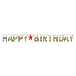 Letter Banner Birthday Accessories Primary Rainbow Paper 31.7 x 335.2 cm