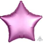 "Standard ""Satin Luxe Flamingo"" Foil Balloon Star, S15, packed, 43cm"